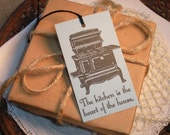 Old Fashioned Kitchen Stove Tags Set of 8
