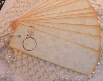 Wedding Ring Tags Place Cards Labels Set of 12