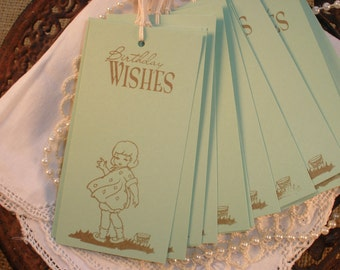 Birthday Party Wish Tree Tags Little Girl Set of 20