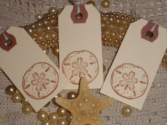 Sand Dollar Gift Tags Set of 10