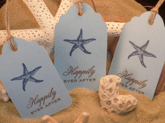 Wedding Tags Nautical Starfish Set of 8