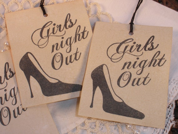 Girls Night Out Tags High Heel Fashion Shoe Set of 8