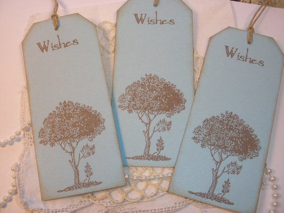 Wedding Wish Tree Tags Vintage Inspired Set of 25