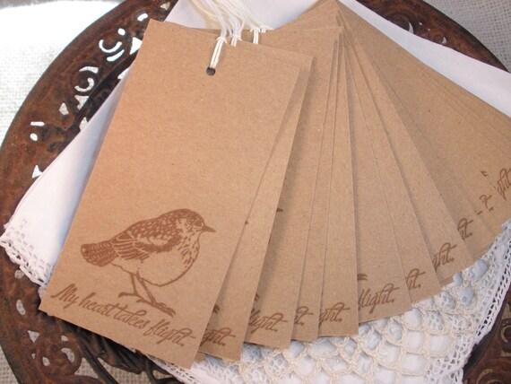Wedding Wish Tree Tags Bird Set of 25