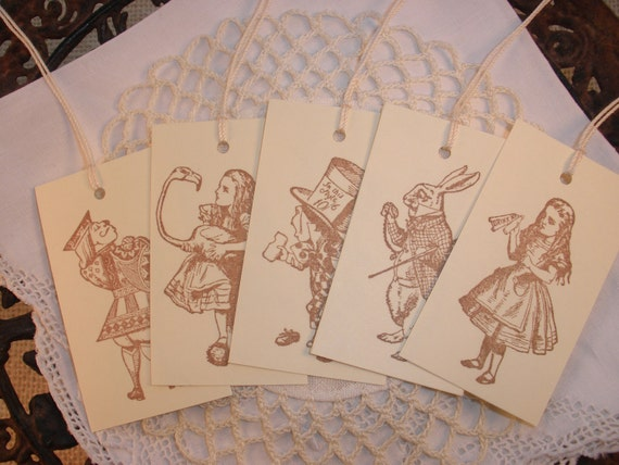 Alice in Wonderland Tag Collection Set of 10
