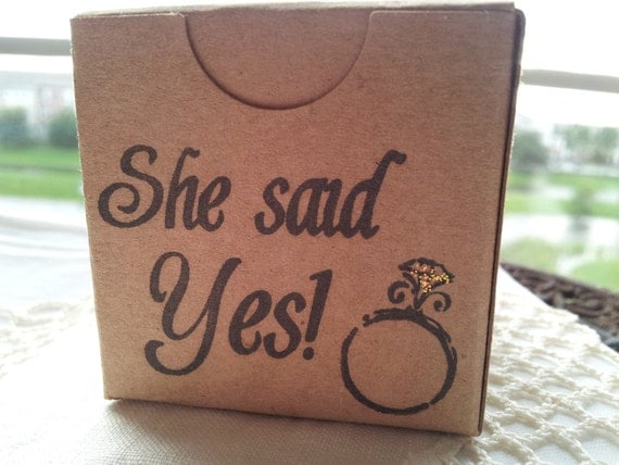 She Said Yes Wedding and Bridal Shower Kraft Boxes Set of 6