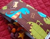 Reusable Snack Bag featuring Michael Miller's Dino Dudes - Small snack bag