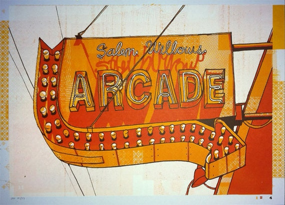 Salem Willows: Arcarde Sign