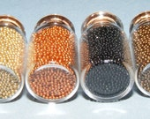 Faux Decorating Sprinkles (4 Miniature Bottles) (non-edible) Gold, Bronze, Black, and Copper