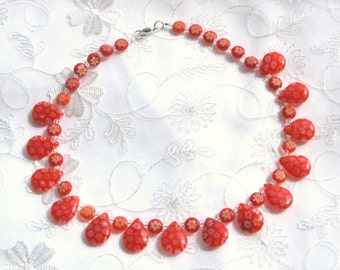 The Thousand-Blossom Necklace in Red: Millefiori, Italian Glass