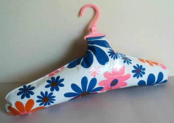 Vintage 1960s Mod Op Art  Floral Inflatable Clothes Hanger // Closet Accessory // Vintage Housewares