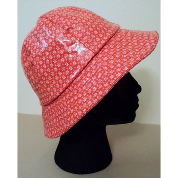 Vintage 1960's Hat // EDWARD MANN British Mod Red Daisy