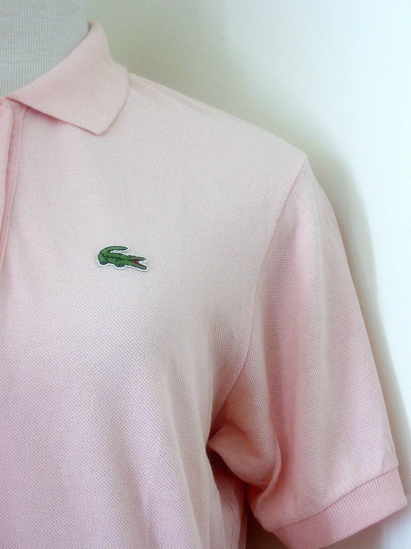 Retro 1980 S Light Pink Retro Izod Lacoste Polo Shirt