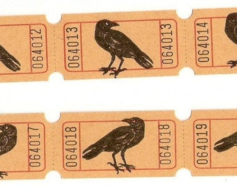 Crow (Raven) Tickets For Your Crafting Needs