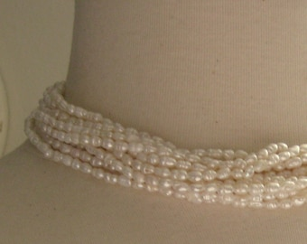 Ivory Seed Freshwater Pearls 3-4mm 7 inches 18cm