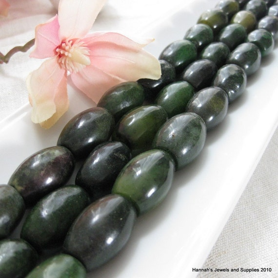 CLEARANCE SALE Dark to Spring Green Dyed Large Jade Barrel Beads 20mm by 30mm 2 pcs
