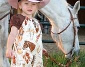 Horses dress, stablemates dress, Western dress, rodeo dress, girl dress