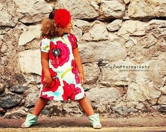 Big Poppy Peasant Dress.......6m,9m,12m,18m,2T,3T,4