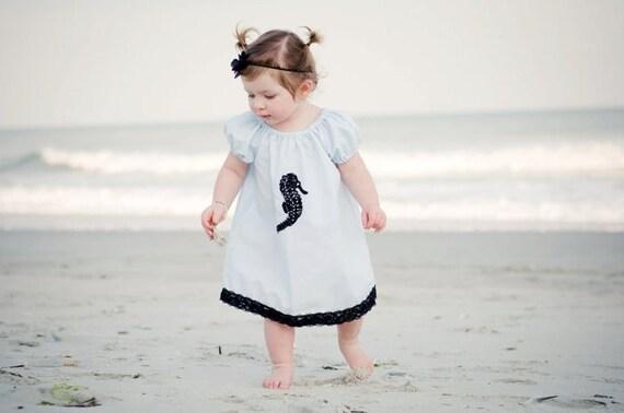 Black Seahorse Dress ... 6m,12m,18m,2T,3T,4T,5T,6