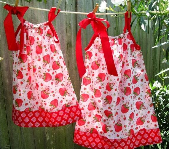 Strawberry Shortcake Dress...6m,12m,18m,2T,3T,4T,5T,6