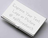 Custom Business Card Holder with Free Engraving Gift Idea