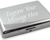 Chrome 2 Side-Cigarette/Credit Card Case Free Engraving