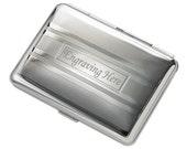 Stripe 2 Side-Cigarette/Credit Card Case Free Engraving gift Idea