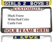 Custom Personalized Engraved License Plate Frame Gift Idea