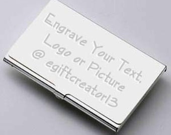 Custom Business Card Holder with Free Engraving
