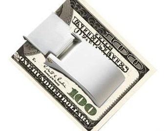 Custom FREE ENGRAVED Curve Folding Money Clip Gift Idea