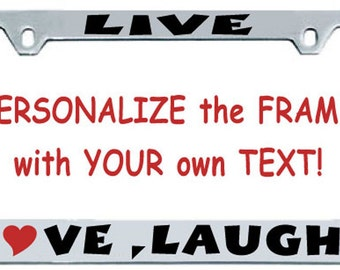"Custom Personalized ""Chrome""  License Plate Frame Gift Idea"