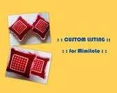 Custom Listing  for MimiLoLo - 2 Dark Red Cushion Covers