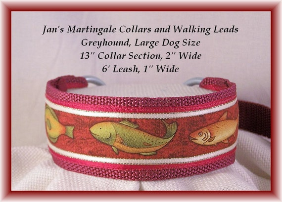 Martingale Collar and Leash Combination Walking Lead, Large Dog, Greyhound Size, Burgundy