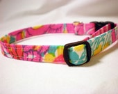 Vintage Lilly Pulitzer Fabric Pink Girl Cat Collar by Pinkys Pet Gear- LIMITED QUANTITY
