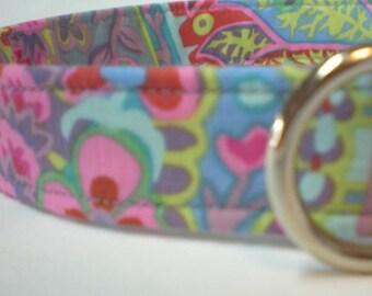 Purple Paisley Fabric Dog Collar Kaffe Fassett Boy Girl