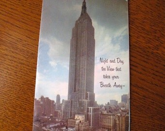 1950s Empire State Building Brochure by Rand McNally