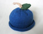 Boston Beanies Blueberry Hat, Knit Cotton Fruit Baby Hat great photo prop