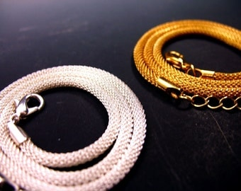 3mm Mesh Chain Upgrade Adjustable 16-18 inches