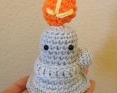 Bernie, The Amigurumi Bunsen Burner, Light Orange Flame