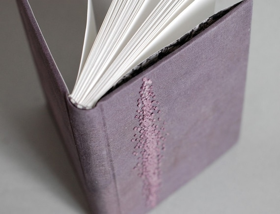 Aubergine Blank Book with French Knots