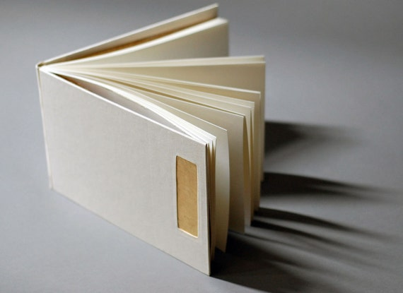 Gold and Ivory Guest Book, Hand Gilt - SALE