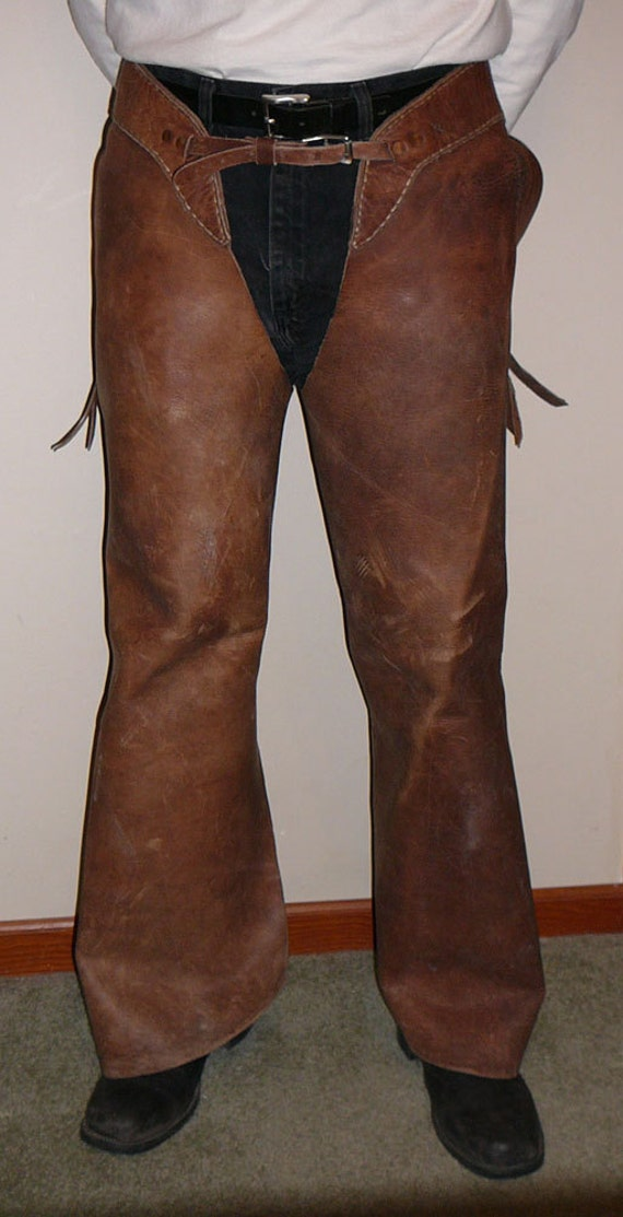 Vintage Rodeo Chaps Wild West Genuine Leather by ...