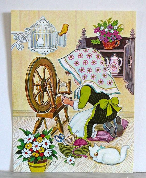 1974 THE MAXFIELD PARRISH POSTER BOOK 21 Frameable Prints 11x16 Maurice Sendak