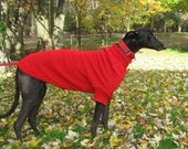 Greyhound Sweater, Large, Red
