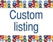 Custom listing of 15 kisses postcards