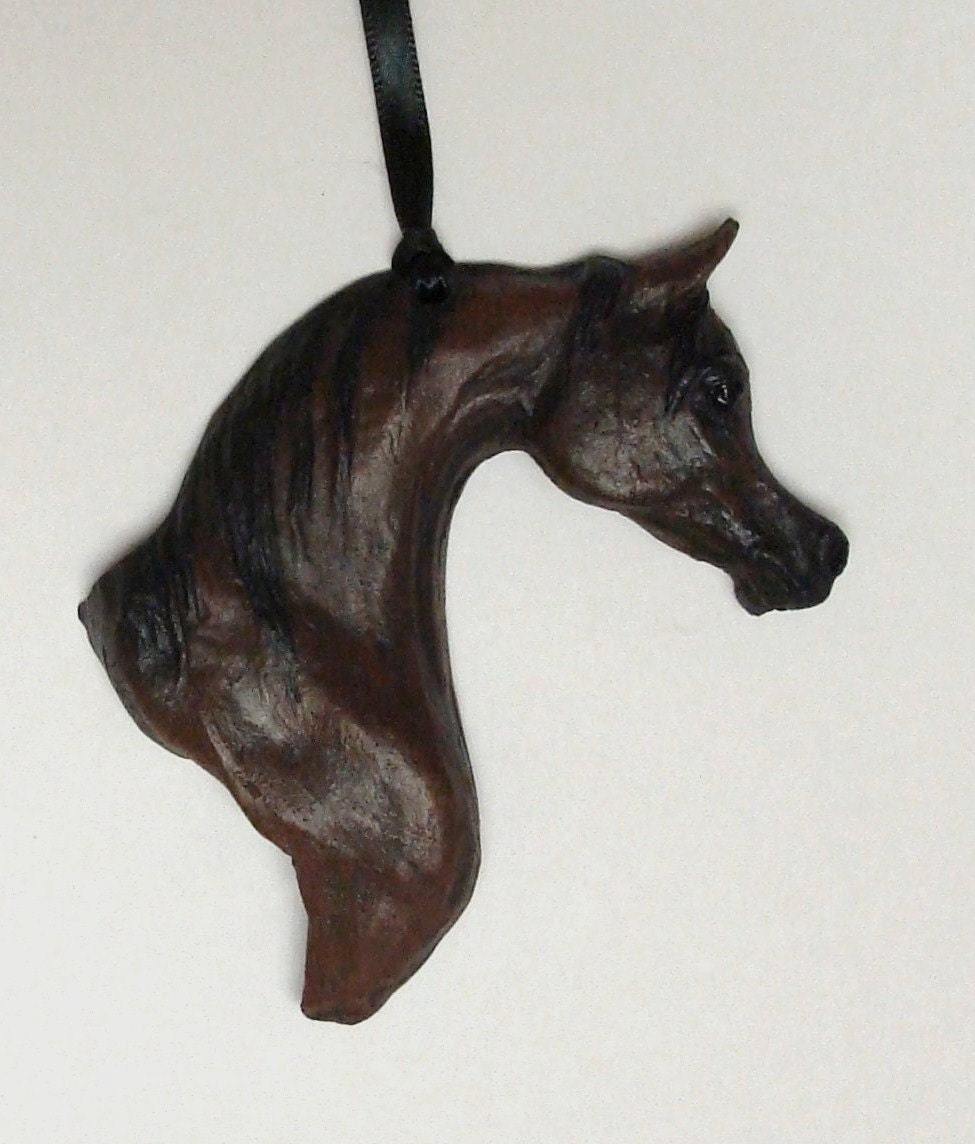 Arabian horse sculpture home decor wall hanging for Horse decorations for home