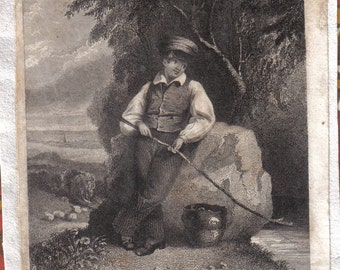 Beautiful Antique English Illustration