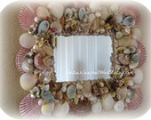 Ocean Splendor Seashell Mirror/Frame