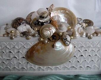 The Majestic Seashell Box/Wedding Box Card Holder