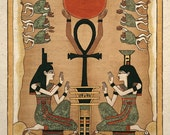 Ancient Egyptian Goddess Isis and Nephthys Art Print
